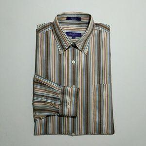 Alan Flusser Men's Dress Shirt Large